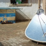 The Chinese use mirrors in a parabolic dish to heat their water. They also use cardboard boxes as chicken cages.