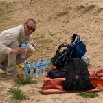 The day Jon left the Great Wall, he gave me some of his water. Much appreciated when you are in a desert...
