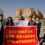 I was interviewed by the local newspaper and Gansu TV at the first beacon tower of the Ming Dynasty Great Wall.