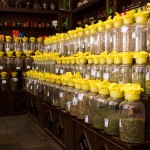 This shop in Jiayuguan had a lot of different green teas.