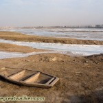 A boat that might have carried me over to Shanxi if it had not been for the ice on the Yellow River.