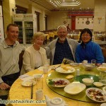 My mother, Kelly and his wife Pingping, and I. Kelly and Pingping have been my safe harbour in Beijing. Thank you very much!