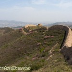 The Great Wall rolling its way towards Zhangjiakou.